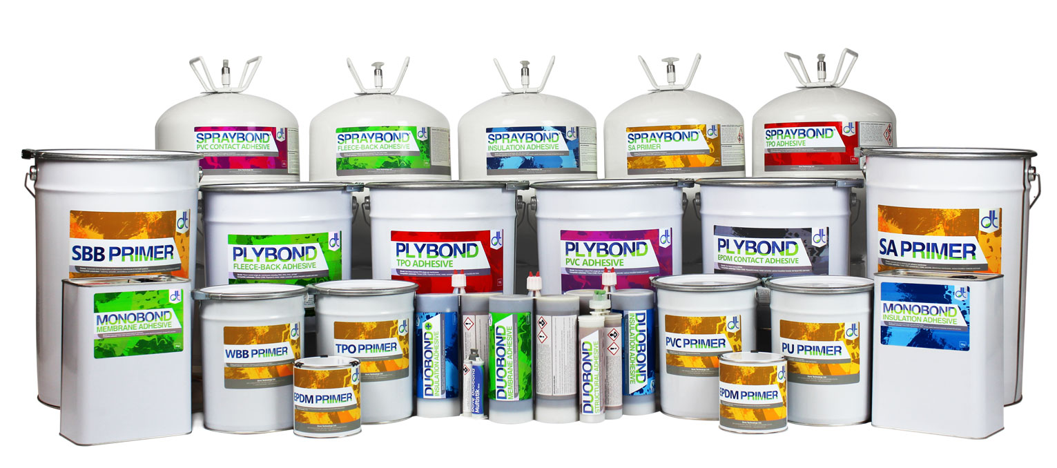 DT Adhesives | Commercial Flat Roofing Adhesives & Primers
