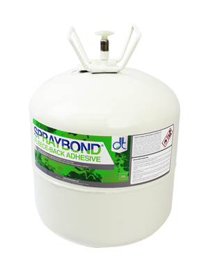 Spraybond Fleece-Back Single Ply Canister Adhesive