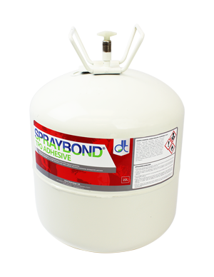 Spraybond TPO canister adhesive for single ply membranes